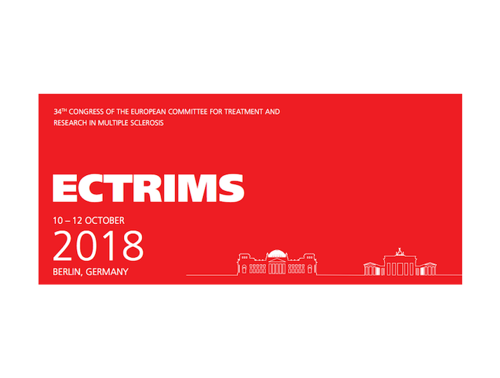 Logo for ECTRIMS 2018 conference in Berlin, Germany
